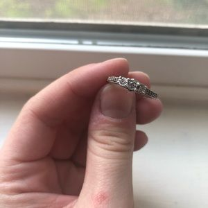 5.5 sized diamond cluster promise/engagement ring